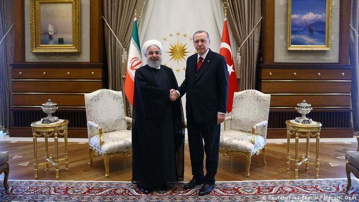 Türkiye Cumhurbaşkanı Recep Tayyip Erdoğan ve İran Cumhurbaşkanı Hasan Ruhani