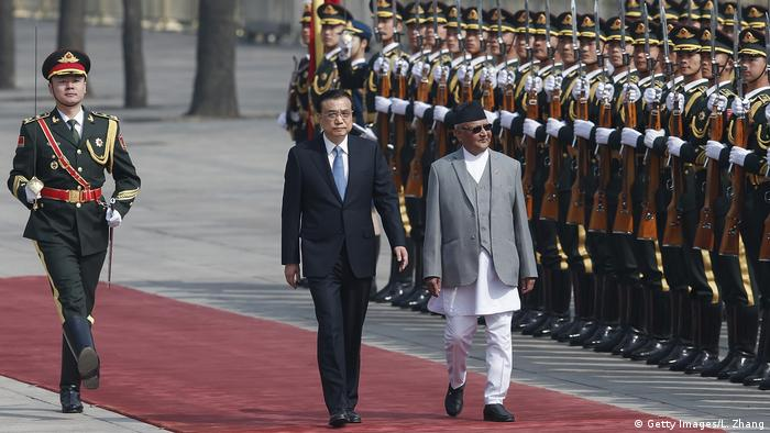 China Besuch Khadga Prasad Sharma Oli (Getty Images/L. Zhang)