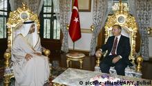 Istanbul Abdullah Bin Zayed Al Nahyan bei Erdogan