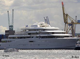 Новое приобретение Романа Абрамовича - яхта Eclipse