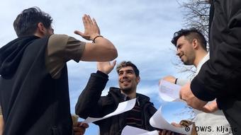 Iranische Flüchtlinge in Serbien ( DW/S. Kljajic)