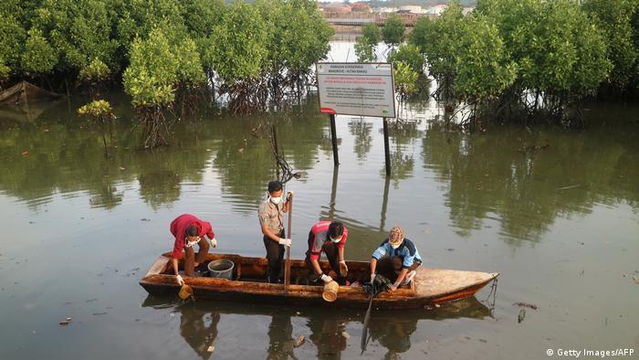 Indonesien Ölteppich in Borneo (Getty Images/AFP)