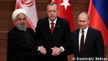 Türkei Ruhani, Erdogan und Putin beim Treffen in Ankara