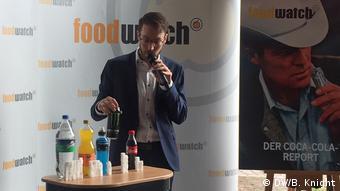 Презентация доклада Foodwatch о Coca-Cola
