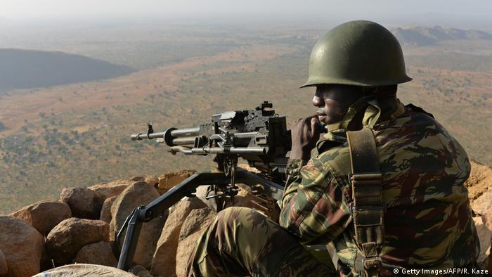 A Cameroon soldier in the North of the country