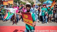 Südafrika Protest gegen Korruption ARCHIV