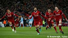 Champions League Liverpool vs Manchester City