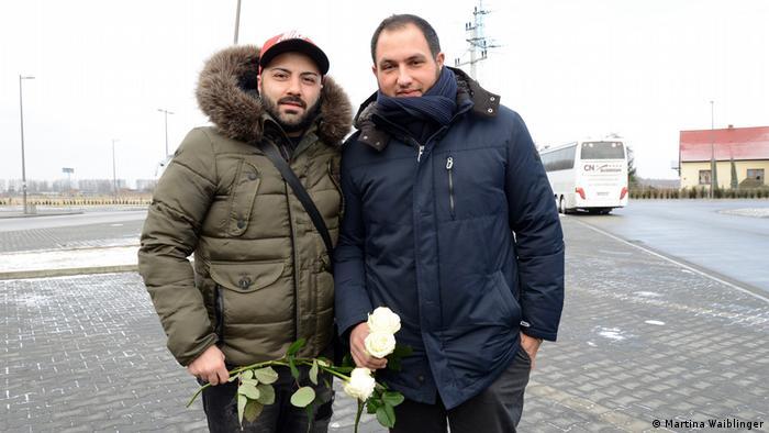 Polen Auschwitz-Gedenkreise   Bobby und Freund