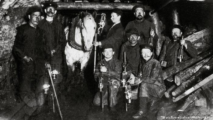 Шахта в Рурской области, 1880 год