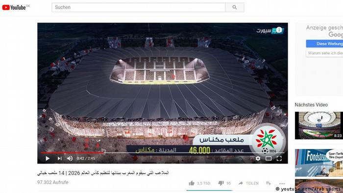 Screenshot Marokko (youtube.com/arab sports)