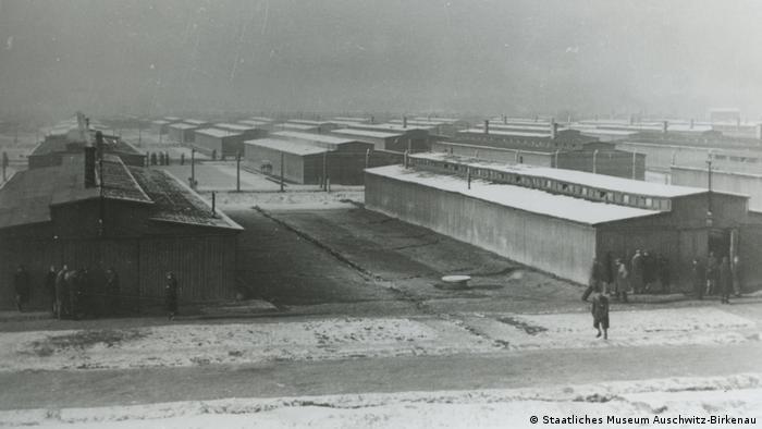 Las barracas, muy juntas, en Auschwitz-Birkenau. La familia de Höllenreiner vivía en el llamado campamento gitano. (Staatliches Museum Auschwitz-Birkenau)