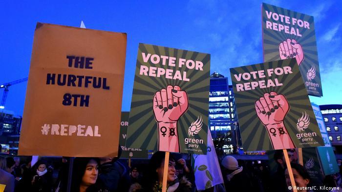 Irland - Proteste gegen Abtreibungsverbot