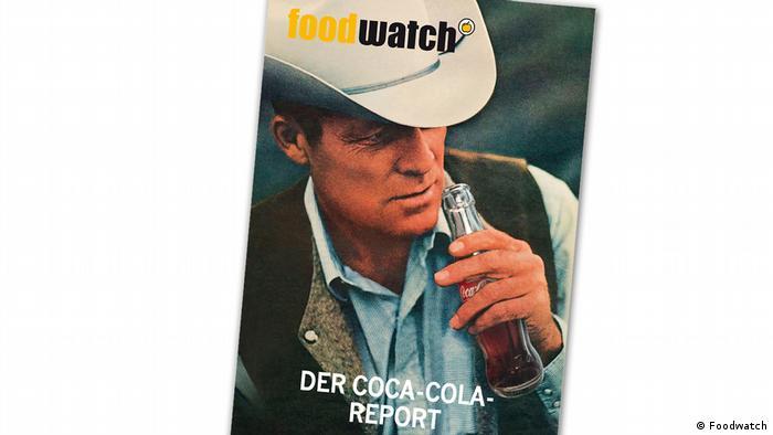 Обложка доклада Foodwatch о лимонадах фирмы Coca-Cola