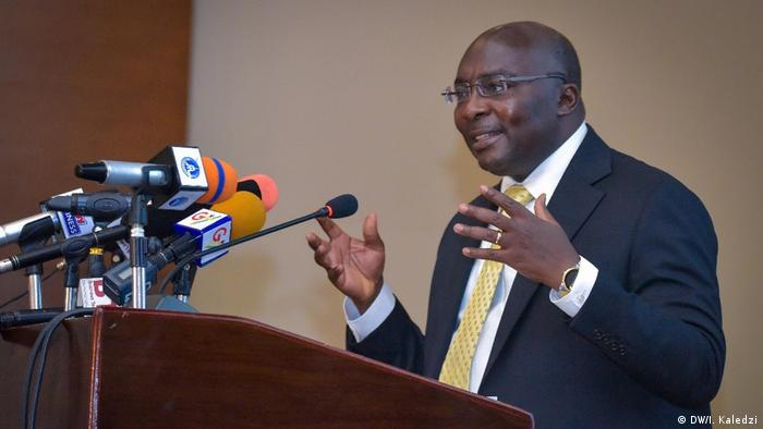 Ghana's Vice President, Dr. Mahamadu Bawumia, addressing the G20 Compact with Africa forum