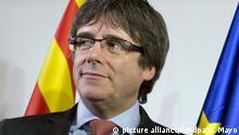 ARCHIV - 21.12.2017, Belgien, Brüssel: Carles Puigdemont, ehemaliger Präsident der spanischen Region Katalonien, kommt zum Square Meeting Center um sich die Verkündigung der Ergebnisse der Wahlen in Katalonien anzusehen. (zu dpa Oberlandesgericht: Puigdemont kommt unter Auflagen frei vom 05.04.2018) Foto: Virginia Mayo/AP/dpa +++(c) dpa - Bildfunk+++ |