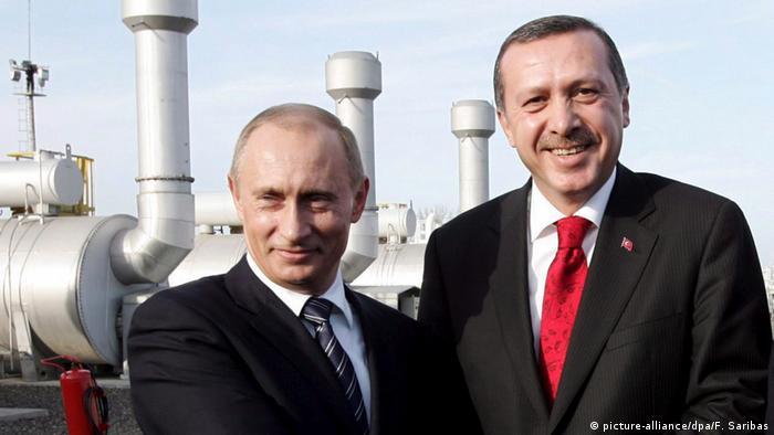 Przywódcy Rosj i Turcji - Putin i Erdogan