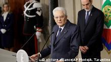 Italien Gespräche über Regierungsbildung ergebnislos vertagt | Sergio Mattarella