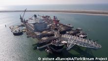 Türkei Russland - Offshore Pipeline im Aufbau - TurkStream