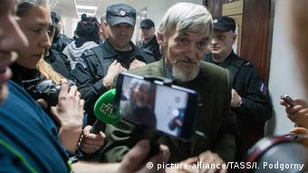 Yuri Dmitriyev in court (picture-alliance/TASS/I. Podgorny)
