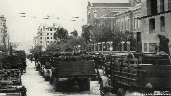 Spanischer Bürgerkrieg - Legion Condor Einmarsch in Barcelona