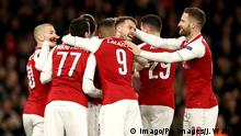 Europa League Arsenal London gegen CSKA Moskau | Jubel
