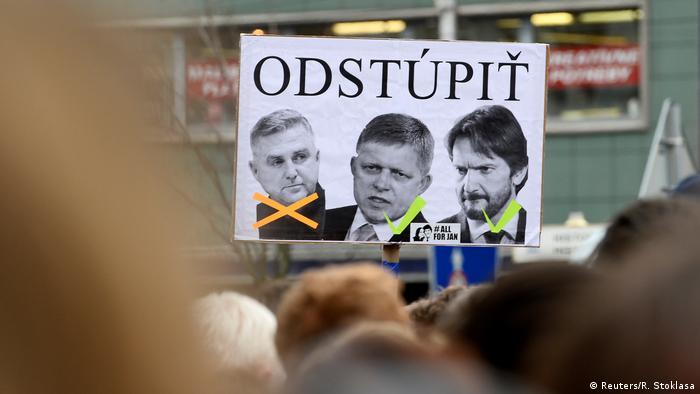 Protesti protiv državnog vrha u Slovačkoj, snimljeno početkom travnja 2018.