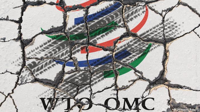 Symbold zum drohenden Handelskrieg zwischen den Vereinigten Staaten von Amerika USA und der Euopäisc