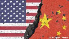 Symbolbild zur drohenden Zuspitzung des Handelskrieg s zwischen den Vereinigten Staaten von Amerika