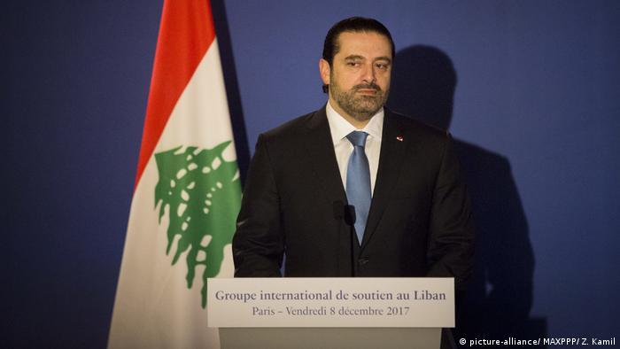 Frankreich Macron Treffen mit Libanons Premier Hariri (picture-alliance/ MAXPPP/ Z. Kamil)