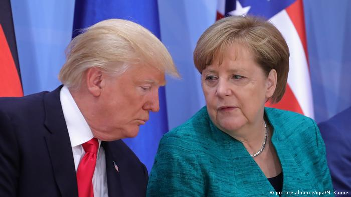 Hamburg G20 Angela Merkel und Donald Trump (picture-alliance/dpa/M. Kappe)