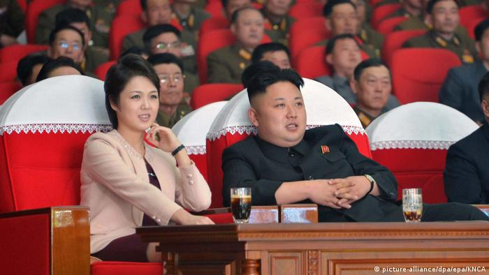 Kim Jong-un mit Frau beim Konzert