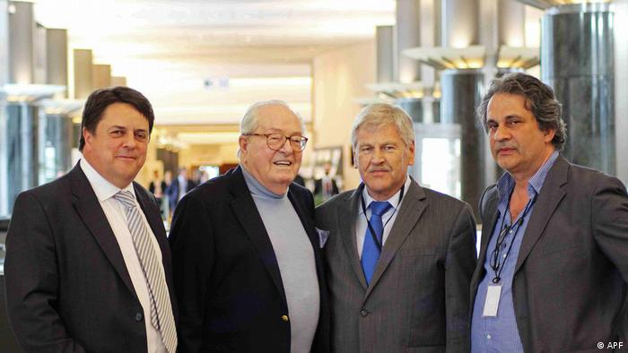 European Parliament - Alliance for Peace and Freedom members with Jean-Marine Le Pen