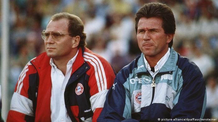 Heynckes und Hoeneß 1990 (picture-alliance/dpa/Rauchensteiner)
