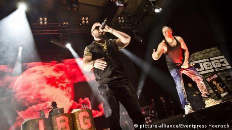 German rapper 'Kollegah' on stage