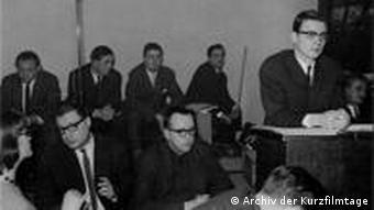 Diskussionen in Oberhausener (Foto: Aus dem Archiv der Kurzfilmtage).
