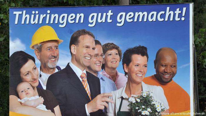 Izborni plakat CDU za Tiringiju na kojem je i Zeca Schall