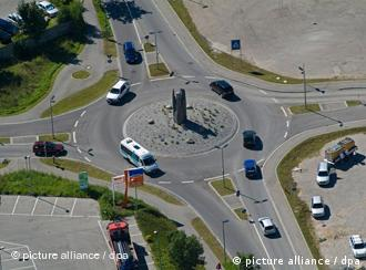 Круговой перекресток в Германии