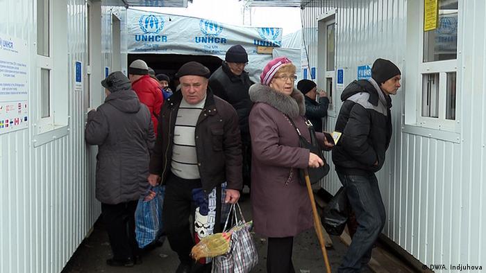 Паспортный контроль на КПП в Донецкой области