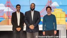 San Francisco Mohammed Bin Salman besucht Google