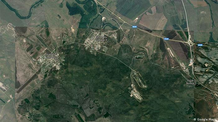 Шиханы на карте