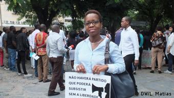 Mosambik Protest Meinungsfreiheit in Maputo