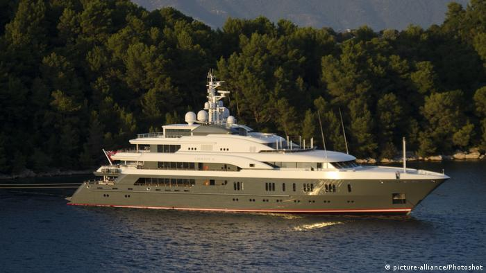 Yachtgate : Russian oligarch Oleg Dripaska's Queen K yacht Mljet island , Croatia (picture-alliance/Photoshot)