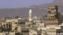 FILE - In this Oct. 13, 2002 file photo San'a city, Yemen's capital, is seen. Yemen accused a Shiite rebel group Sunday June 13, 2009 of kidnapping nine foreigners in the country's rugged north. The Interior Ministry said the foreigners were kidnapped Friday by a rebel group led by Abdel Malak al-Hawthi while on a picnic in northern Sada province. Now three German women abducted in a group of foreigners last week in Yemen were found dead early Monday June 15, 2009 , their bodies mutilated, a Yemeni security official said. Shepherds roaming the area found the women's remains in the mountainous northern Saada province near the town of el-Nashour, known as a hideout for al-Qaida militants, the official said. He spoke on condition of anonymity because he wasn't authorized to speak to the media. (AP Photo/Amr Nabil)