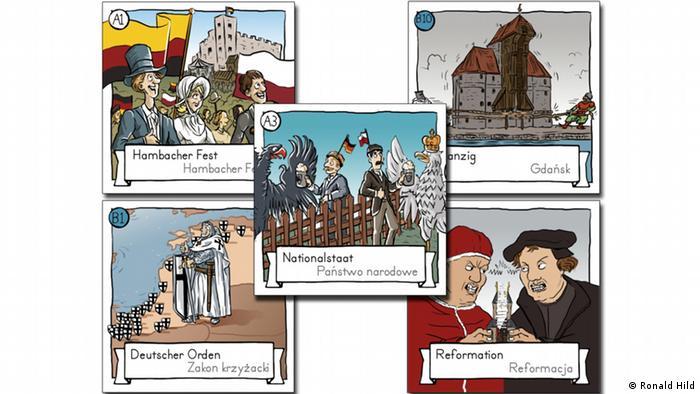 Szkice dwujęzycznych kart do Textury