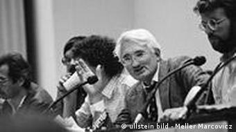Juergen Habermas at a conference at Frankfurt University in 1983