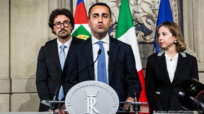Luigi Di Maio after meeting with President Sergio Mattarella to discuss a possible government