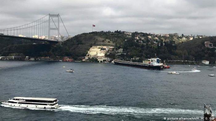 Brodski udes kod mosta preko Bospora u Istanbulu u travnju 2018.