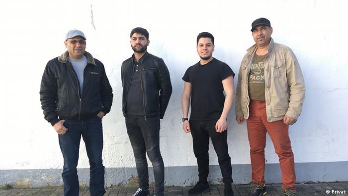 Петър Филипов и неговите колеги от телевизионния канал на град Касел