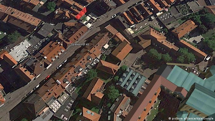 Münster - Satellite photo of old part of Münster (picture alliance/dpa/Google)
