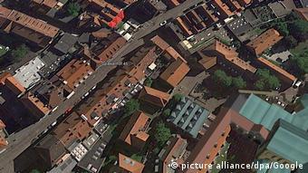 Немецкий город Мюнстер. Снимок сделан со спутника